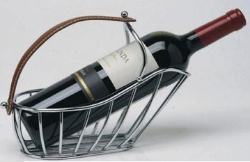 Porta botella Metal pl cmanija cuero
